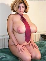 blonde huge boobs hot body